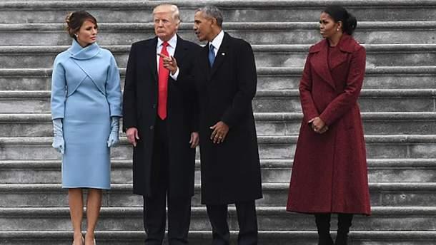 Барак Обама та Дональд Трамп під час інаугурації останнього
