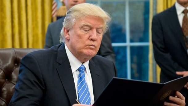 Трамп подписал указ о выходе из транстихоокеанского партнерства