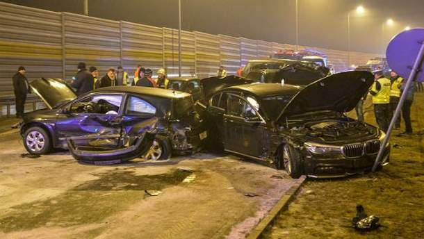 В аварии министр не пострадал