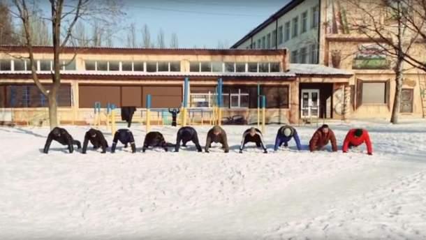 Патриоты из Донбасса присоединились к флешмобу 22 Push-Up Challenge
