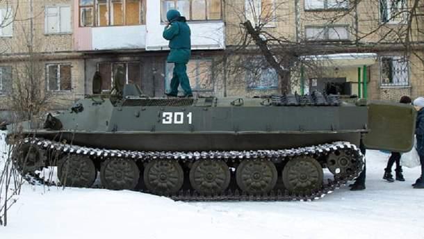 Російська техніка у Донецьку