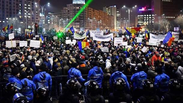 Антиурядові протести в Румунії
