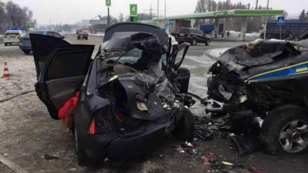 Место аварии в Днепре