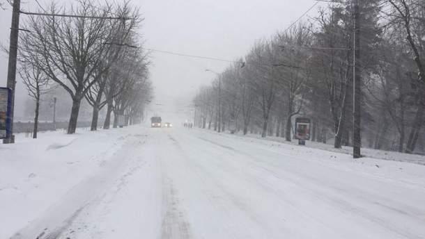 Дороги замело снегом