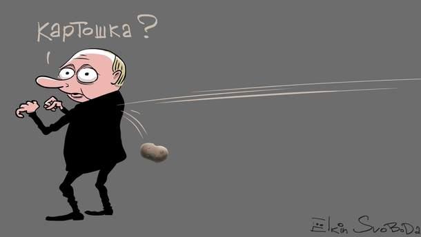 """Российский карикатурист высмеял """"напряженные отношения"""" между Беларусью и Россией"""