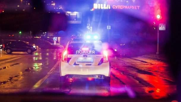 Авто полиции ночью