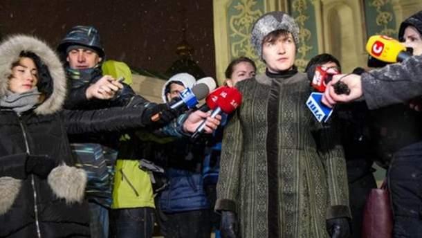 Надежда Савченко дает комментарий