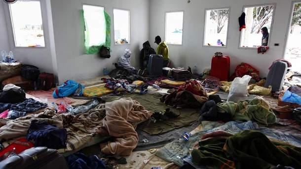 Лагерь беженцев в Ливии