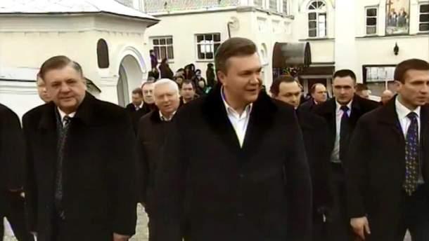 Виктор Янукович и свита