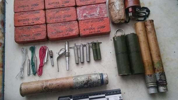 Похищенная взрывчатка из зоны АТО