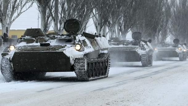 Колонна военной техники