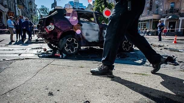 Автомобиль с Павлом Шереметом взорвали в центре Киева