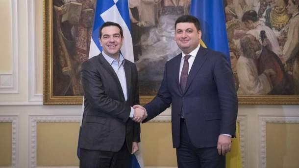 Ципрас впервые с визитом в Украине