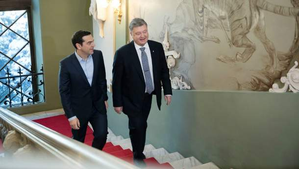 Порошенко провел историческую встречу с Ципрас