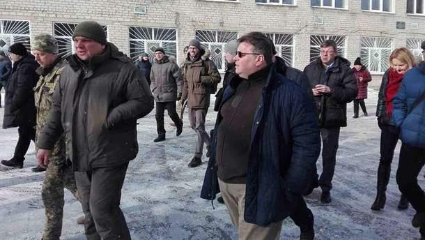 Министр иностранных дел Литвы в Авдеевке