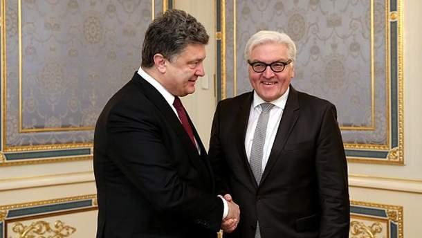 Порошенко поздравил Штайнмайера с избранием на пост президента Германии