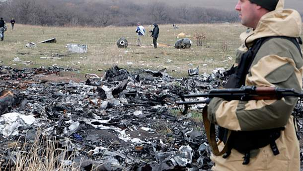 Терорист на місці падіння малазійського Boeing