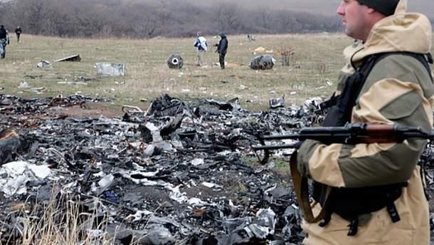 Террорист на месте падения малазийского Boeing