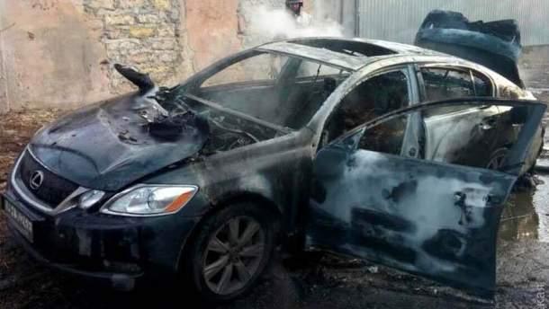 Lexus, в котором нашли тело бизнесмена