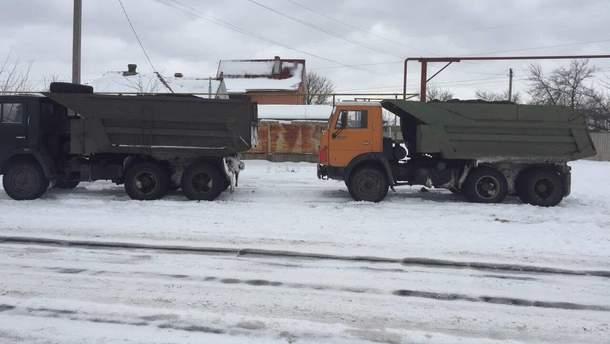 Задержанный грузовик
