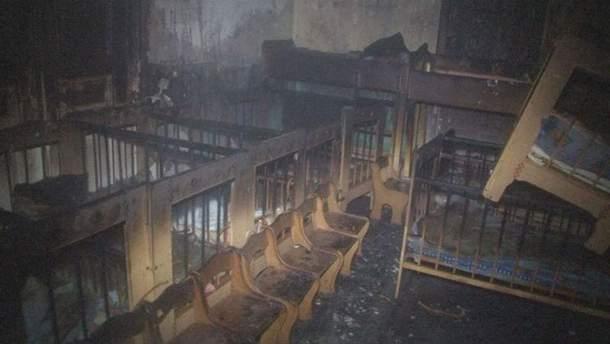 Пожар во Львове тушили полчаса