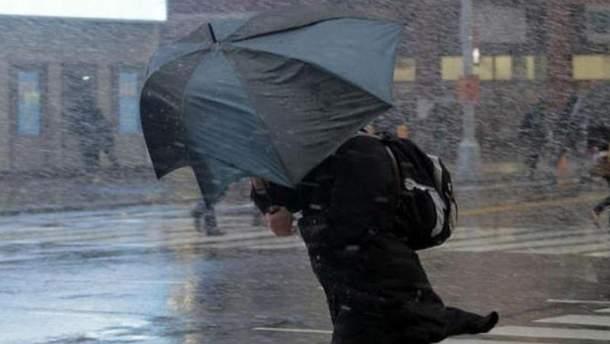 В Украине прогнозируют сильные дожди