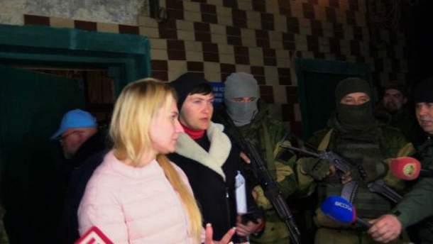 Надежда Савченко в Донецке