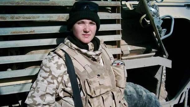 Надія Савченко у військовій формі