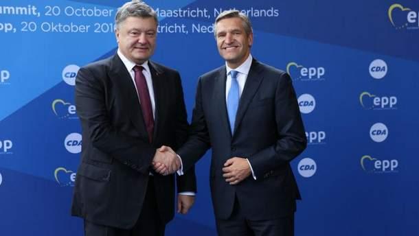 Петр Порошенко и Сибранд Бума, октябрь 2016