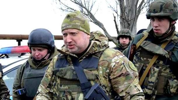 Александр Турчинов  в АТО
