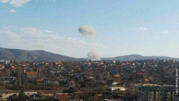 Взрыв в Сербии