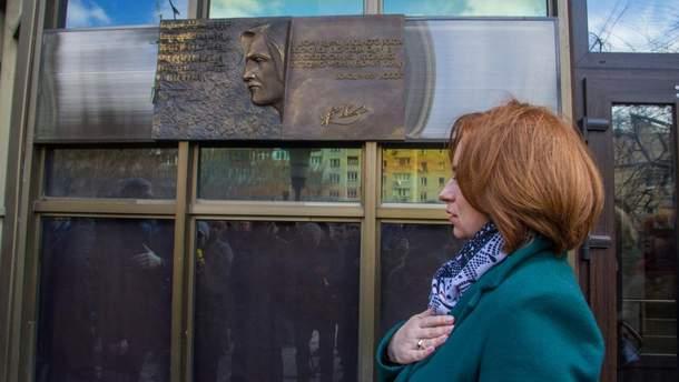Меморіальна таблиця Івасюку у Києві