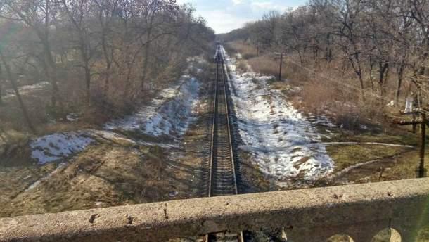 Железнодорожный путь в районе Горского