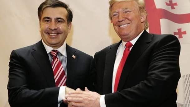 Саакашвили верит в добрые намерения Трампа по отношению к Украине