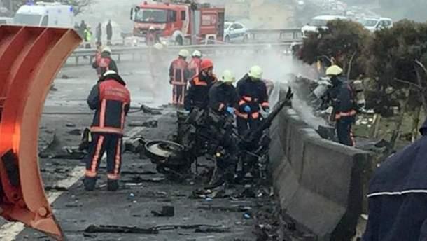 Вертолет с россиянами разбился в Стамбуле