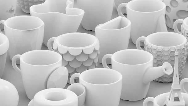 Горнята для кави надруковані на 3D-принтері