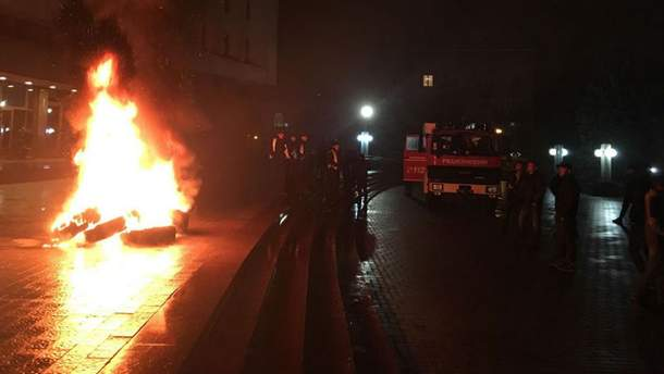 Протесты в Ивано-Франковске