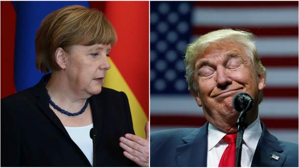 Ангела Меркель та Дональд Трамп
