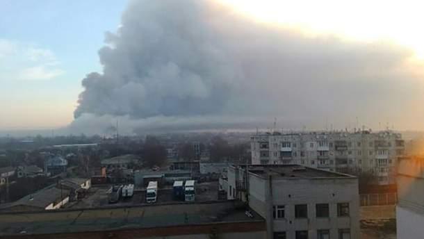 Последствия взрыва вблизи Балаклее