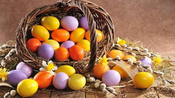 Как покрасить яйца натуральные красители на Пасху 2018
