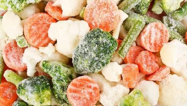 Заморожені овочі корисніші за свіжі