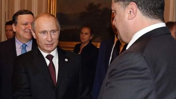 Петро Порошенко і Володмир Путін