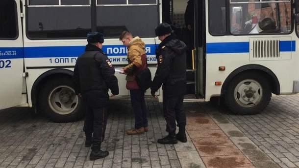 Задержание подростка в Москве
