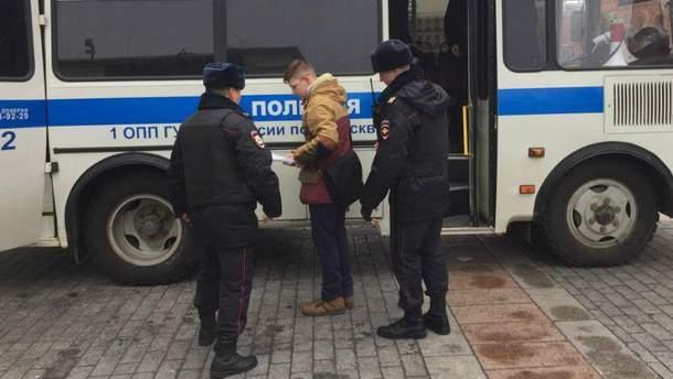 Затримання підлітка в Москві