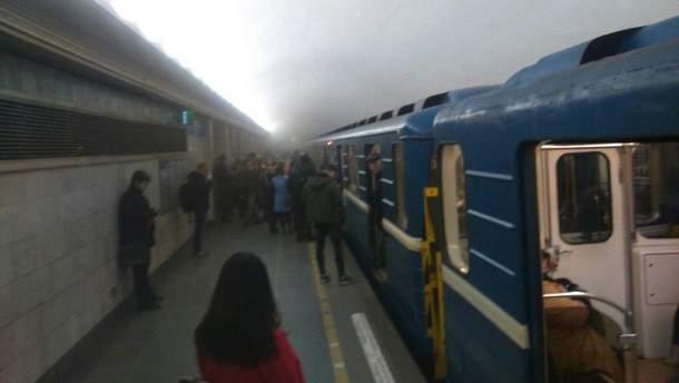 Задымление метро в Санкт-Петербурге