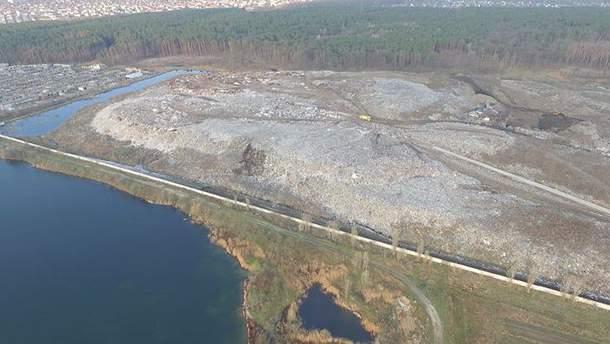 Житомирське сміттєзвалище після пожежі
