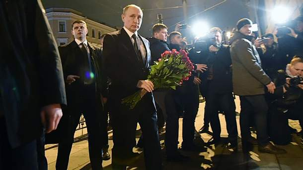 Володимир Путін поблизу місця трагедії