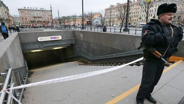 Фото с места теракта в Петербурге