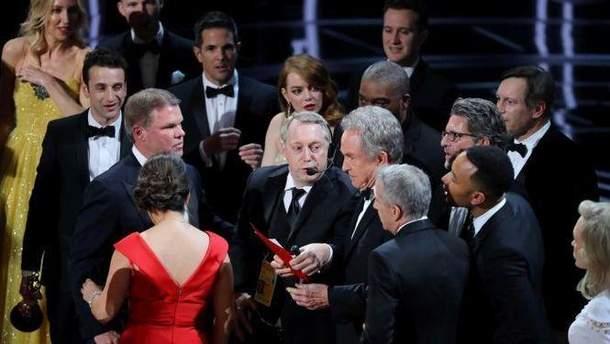 Скандал на церемонии награждения Оскар