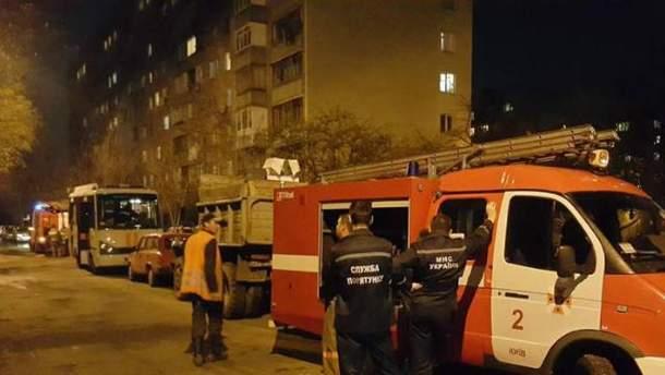 В Киеве на Татарке горела многоэтажка